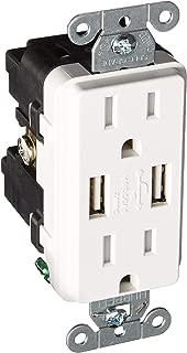 Lutron Deep Back Cover SC 15A USB Tamper Resist Snow (SCR-15-UBTR-SW)