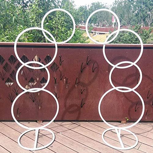 XSWL Metal Round Garden Arch, Arch DIY Curved Arches for Birthday Party Wedding Anniversary Etc
