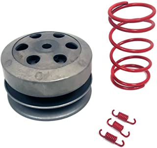 MMG KIT 50cc 4 Stroke GY6/QMB139 Clutch, Torque and Clutch Shoe Springs set (2000 RPM) Red