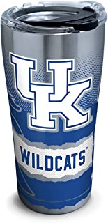 Tervis 1266054 Kentucky Wildcats Knockout Stainless Steel Tumbler with Clear and Black Hammer Lid 20oz, Silver