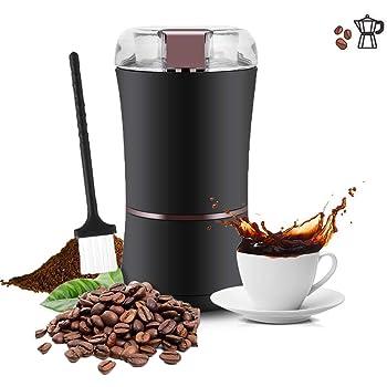Molinillo de café eléctrico, profesional 400W / 3 onzas Máquina de molinillo de molinillo de café eléctrico, grado de molienda ajustable con cuchilla de acero inoxidable para frijoles / nueces / semil: Amazon.es: Electrónica