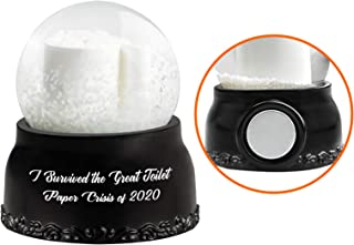2021 Hilarious Toilet Paper Snow Globes I Survived The Great Toilet Paper Crisis of 2020 Cute Crystal Clear Glass Snow Glo...