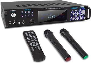 Pyle PWMA1003BT - Amplificador de alimentación con Bluetooth de 4 canales, 1000 W, receptor estéreo con radio AM FM, USB, ...