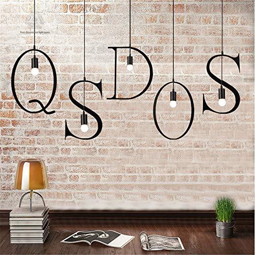 Modern, warm design met 26 letters, om zelf te maken, op te hangen, van ijzer, in industriële stijl.