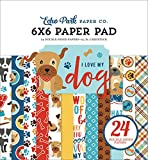 ECHO PARK PAPER COMPANY PAPER 6X6 PAD, I Love My Dog, 12 Designs/2 Each