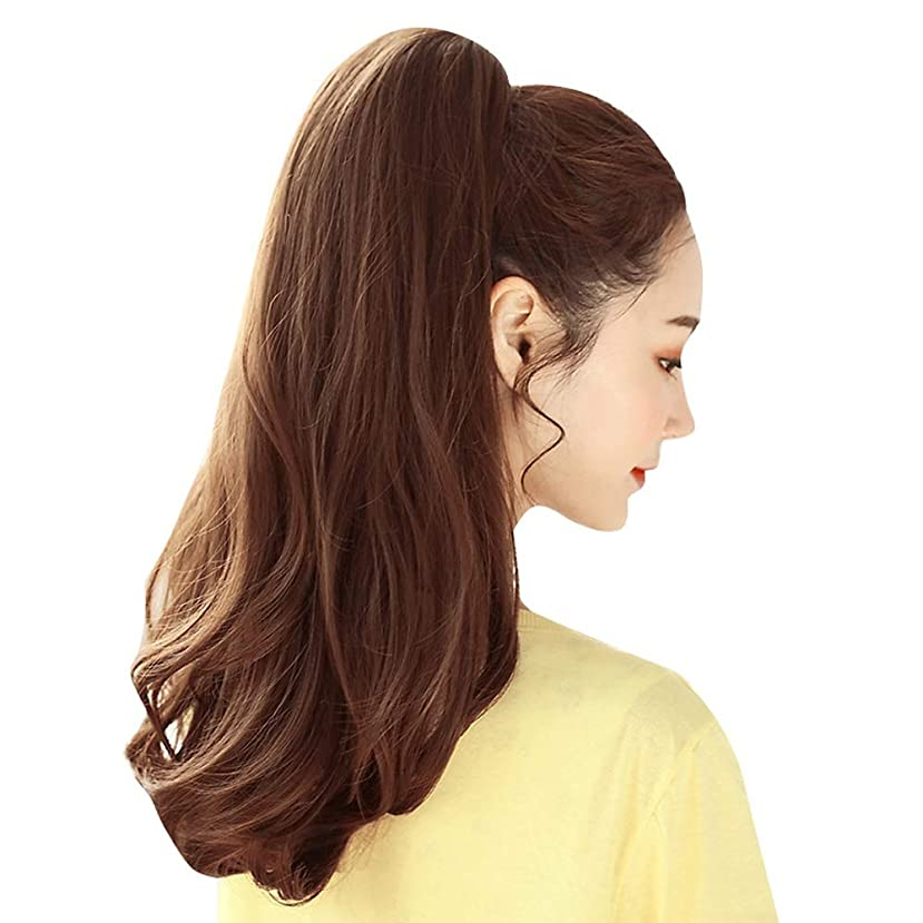嵐物思いにふける追い付くSRY-Wigファッション ポニーテールファッションウィッグ人毛エクステンションのリアルな新しいクリップポニーテールの周りのストレートポニーテールラップ