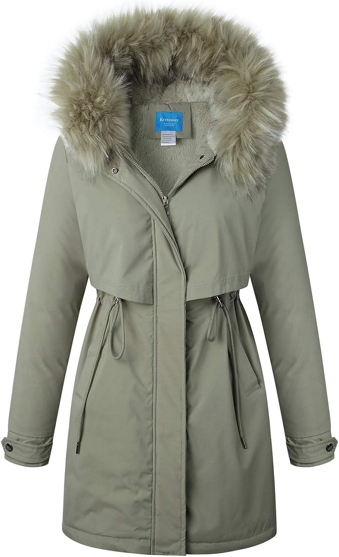 Kretenier Women's Winter Finally popular ! Super beauty product restock quality top! brand Coats Warm Thicken Jackets Hooded Parka