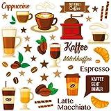 Wandkings Fliesensticker - Wähle ein Motiv - Coffee Love - Sticker für z.B. Fliesen, Fliesenspiegel in Küche & mehr -