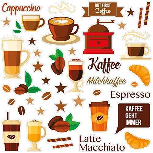 Wandkings Fliesensticker - Wähle ein Motiv - Coffee Love - Sticker für z.B. Fliesen, Fliesenspiegel in Küche & mehr