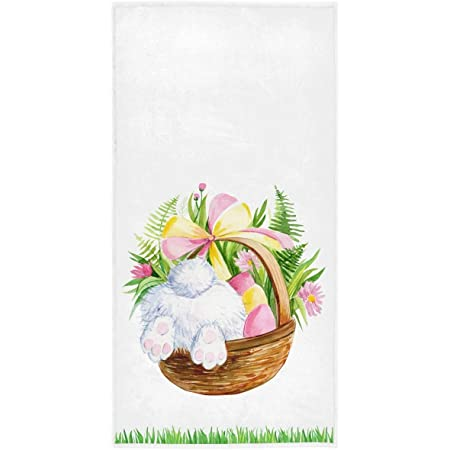 Easter Rabbit Bunny Tail w//carrot Bath Fingertip Bath Towel 11x18 Cotton NWT