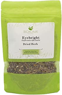 Sponsored Ad - 100% Pure and Natural Biokoma Eyebright (Euphrasia officinalis) Dried Herb 50g (1.76oz) in Resealable Moist...