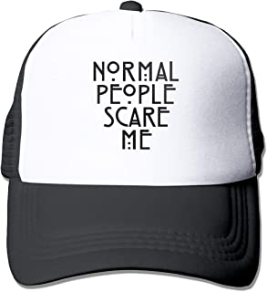 Normal People Scare Me Mesh Baseball Caps Unisex Adjustable Trucker Style Hats Black