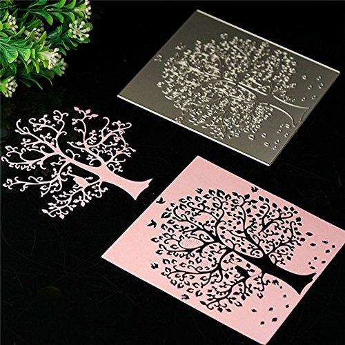 Gemini_mall® Blumenschablonen aus Metall, geprägt, zum Basteln für Notizbücher, Alben, Karten baum