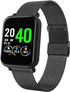 CPAiJS Pulsera de Actividad Fitness Tracker Smart Watch R6 Presión Arterial Ritmo cardíaco Montior Sport Smartwatch IP67 Podómetro Impermeable Fitness Tracker Reloj Recordatorio de SMS