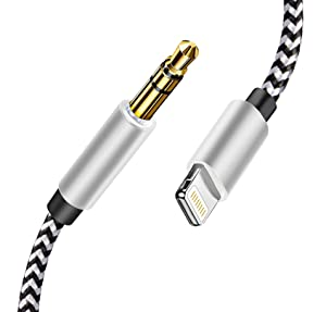iPhone Aux Cord for Car, Apple MFi Lightning to 3.5 mm Headphone Jack Nylon Braided Aux Audio Cord for Car Home Stereo Speakers Headphones Adapter Compatible with iPhone 12 11 SE 2020 XS XR 8 7 6 iPad