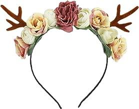 Reindeer Antlers Headband Christmas Easter Halloween Party Diy Women Girs Kid Deer Ear Party Hairband Wedding Jewelry Gift,K0950