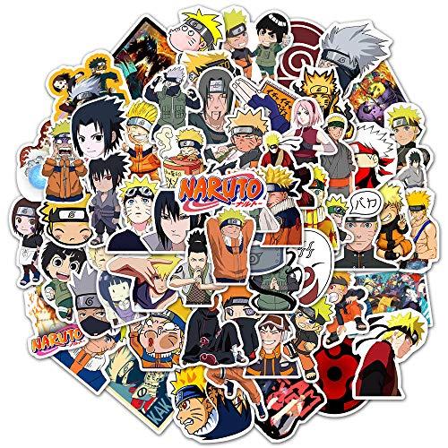 SZENEST Anime Naruto Aufkleber, 100 Stück wasserdichte Anime Aufkleber für Kinder Jugendliche Erwachsene Vinyl Auto Aufkleber für Laptop Wasserflaschen Gepäck Skateboard Aufkleber Graffiti Patches