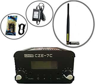 CZH CZE-7C FM Transmitter Mini Radio Stereo Station PLL LCD with Antenna Kit