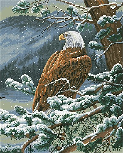 The Eagle Counted Cross Stitch Kit Egypt Cotton Thread 14ct,196x244stitch 46x55cm Cross Stitch Kits