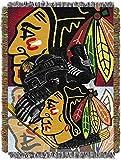 NORTHWEST NHL Chicago Blackhawks Woven Tapestry Throw Blanket, 48' x 60', Home Ice Advantage