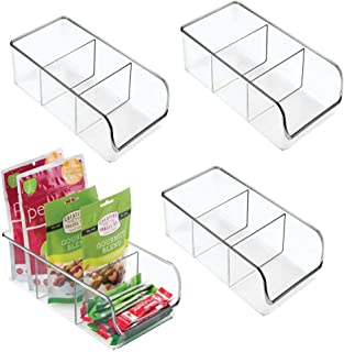 mDesign Plastic Food Packet Kitchen Storage Organizer Bin Caddy - Holds Spice Pouches, Dressing Mixes, Hot Chocolate, Tea,...
