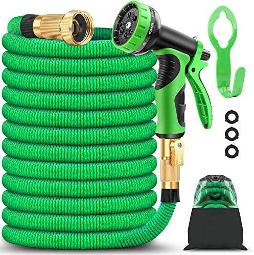 BAZOLOTA Garden Hose Expandable 50FT Water Hose with 9 Function Nozzle Flexible Gardening Hose product image