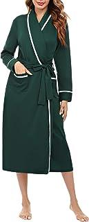 Aibrou Vestaglia Donna Invernale,Vestaglia Donna Kimono Lunga,Accappatoio Kimono e Pigiama Kimono Donna Cotone con Cintura...