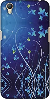 AMZER Slim Fit Handcrafted Designer Printed Hard Shell Case Back Cover for Oppo A37 - Midnight Lily