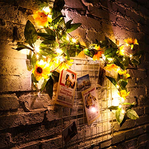 Artificial Sunflower String Lights