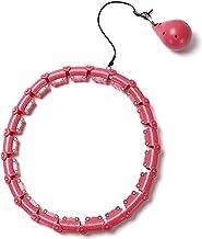 YPLDM Smart Hula Hoop Beginner Auto-Spinning Hoop met 360 ° Massage, Fitness Ring zal niet vallen/Roze /18 secties