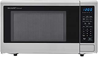 SHARP SMC1132CS Countertop Microwave 1.1 cu. ft. Capacity with 1000 Cooking Watts in Stainless Steel (Renewed)