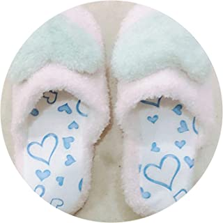 Female Autumn Winter warmLovely Ladies Home Floor Soft Women Indoor Slippers Outsole Cotton-Padded Shoes