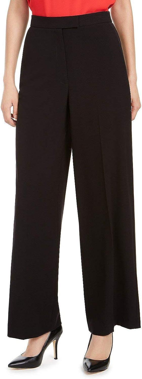 Anne Klein Womens Stretch Wide Leg Dress Pants