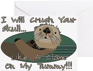 CafePress Otter Skull Crush Greeting Card, Note Card, Birthday Card, Blank Inside Glossy