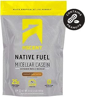 Ascent Native Fuel Micellar Casein Protein Powder - 2 Lbs - Chocolate Peanut Butter