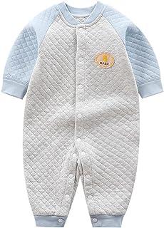 الوليد الربط الزحف الملابس طفل الصلبة بلون طويلة الأكمام حللا الطفل بنين بنات السروال القصير (Color : Sky blue, Size : 6M)