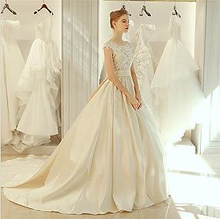 Wedding Dresses Women Backless Lace Bridesmaid Dress Elegant Marry Princess Long Evening Dress Bridal Gown Champagne Light Champagne XXL