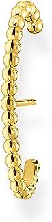 Thomas Sabo Pendientes individuales para mujer, bolas doradas, plata de ley 925