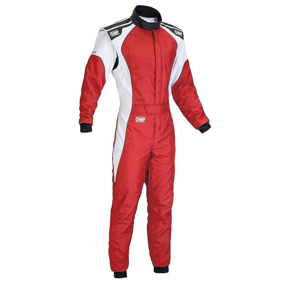 番目チャーター生息地OMP KS-3 SUIT レッド/ホワイト 52サイズ CIK-FIA LEVEL-2公認 レーシングスーツ