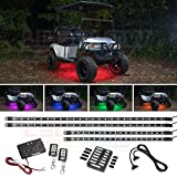 LEDGlow 4pc Million Color LED Golf Cart Underglow Accent Neon Lighting Kit for EZGO Yamaha Club Car - Fits...