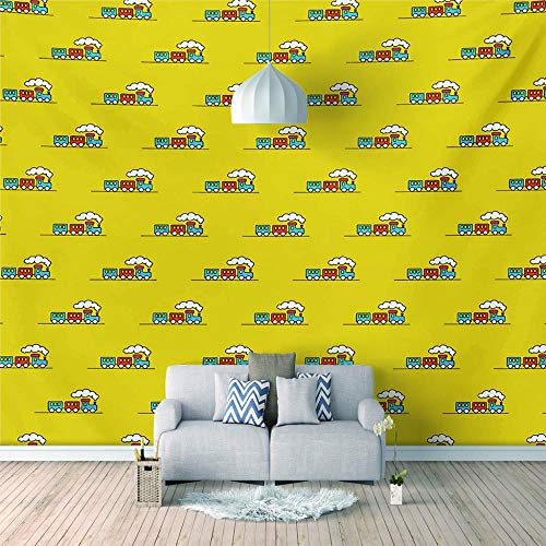 Fotomurales grandes 3D Coche de dibujos animados Murales gigantes no-trenzado Salón Dormitorio Despacho Pasillo Decoración murales decoración de paredes moderna-200X140cm