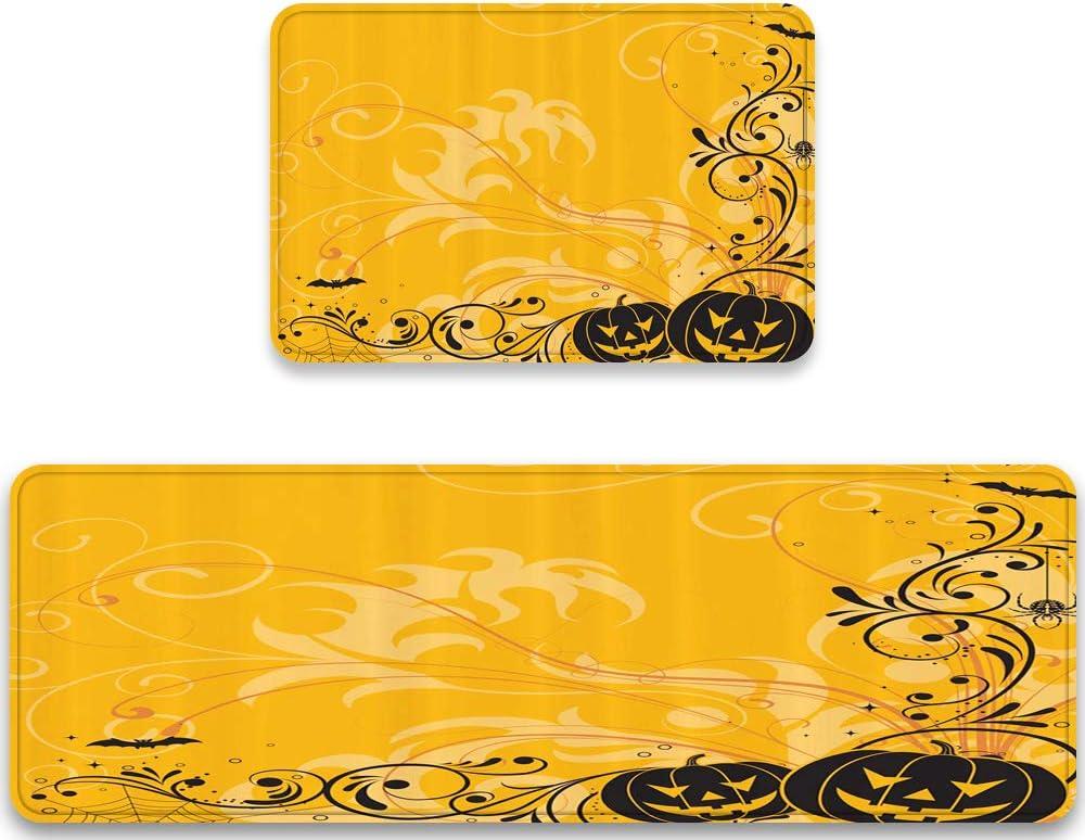 MATEKULI Anti Fatigue SALENEW very popular! Kitchen Rug Indefinitely Piece Halloween Sets 2 Carved