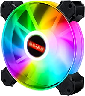 Generic High 12cm LED RGB Round Computer Case Cooling Fan Accessories,Efficient and Aesthetic - Rainbow 01