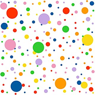 Easma Polka Dots Wall Decals(224Dots) Vinyl Wall Decal Removable Primary Colors Vinyl Circle Wall Stickers Easy Peel&Stick