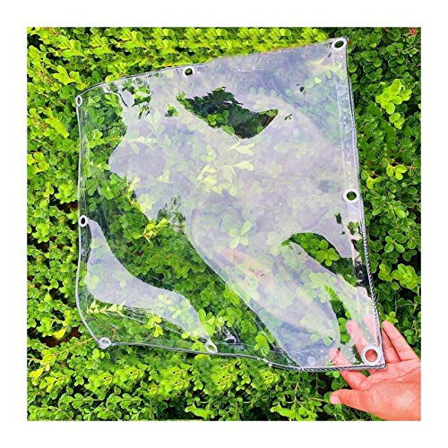 JYW-coverS YANJINGYJ Intemperie Transpirable Lona, Duradera Toldo, Exteriores Anti-UV Canvas for GardenMate Muebles Jardín Gazebo, 400g/m², 0.3mm (Color : Clear, Size : 1.6x3m)