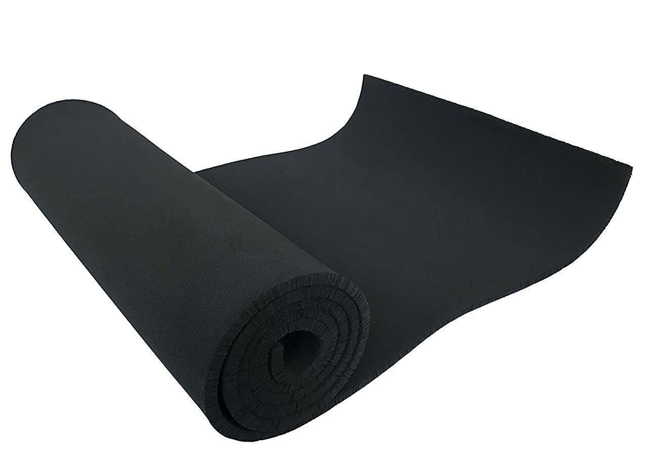 XCEL - Medium Soft Cosplay Craft Foam Roll, Black, Size 54 Inch x 12 Inch x 1/4 Inch