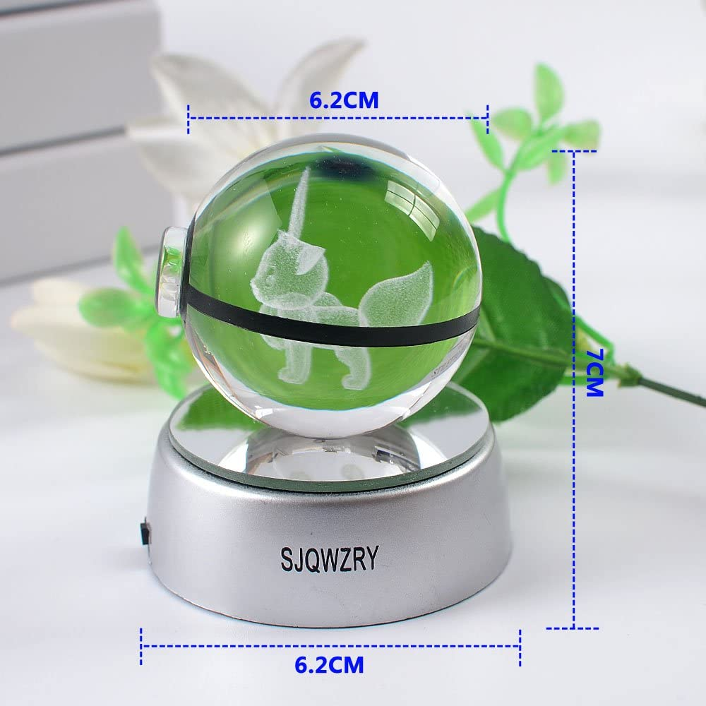 3D Crystal LED Night Light,7 Colors Gradual Changing Table Lamp for Holiday Gifts or Home /…