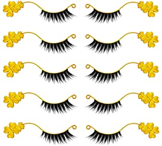 TXIN 6 Pairs False Eyelash Eyelashes Extensions Display Holder Metal Clover Shape Magnetic Try On Stick, Lashes Magnet Gra...