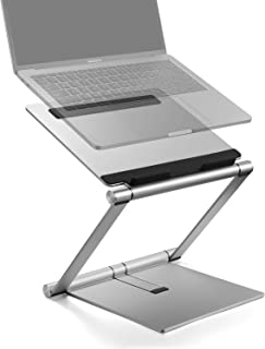 """Laptop Stand, Multi-Angle Aluminum Ergonomic Foldable Laptop Riser, Adjustable Notebook Stand Holder for MacBook Pro/Air, HP, Dell, Lenovo, Samsung, Acer, Huawei MateBook and Other Laptops up to 17"""""""