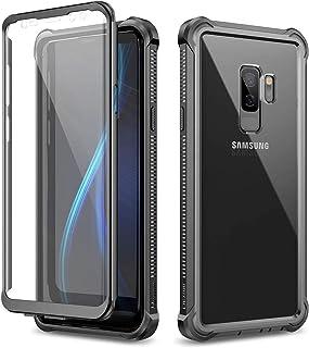 Alsoar Compatible pour Samsung Galaxy S9 Coque Rigide en Verre Tremp/é Arri/ère Housse Ultra Mince 2 en 1 Adsorption Magn/étique M/étal Cadre Bumper 360/° Protection Etui Case Argent